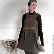 Одежда ручной работы. Ярмарка Мастеров - ручная работа Сарафан теплый Хан-чай 4857. Handmade.