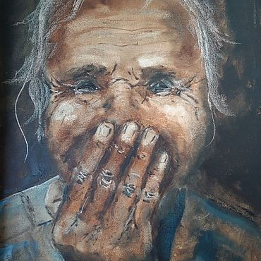 """Картины и панно ручной работы. Ярмарка Мастеров - ручная работа Картина маслом """"Смех"""". Handmade."""