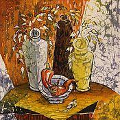 """Картины и панно ручной работы. Ярмарка Мастеров - ручная работа батик """" Перчинка"""". Handmade."""