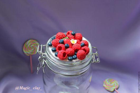 Декоративная посуда ручной работы. Ярмарка Мастеров - ручная работа. Купить Вкусные ягоды на банке. Handmade. Ярко-красный