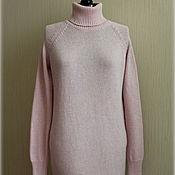 """Одежда ручной работы. Ярмарка Мастеров - ручная работа Вязаное платье """"Розовый кварц"""" с кашемиром. Handmade."""