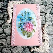 Свадебный салон handmade. Livemaster - original item Greeting card Noble rose. Handmade.
