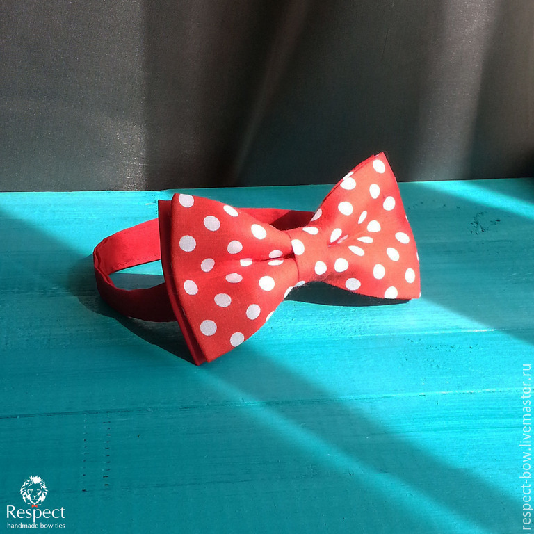Tie Mickey / bow tie red large white dots, Ties, Moscow,  Фото №1