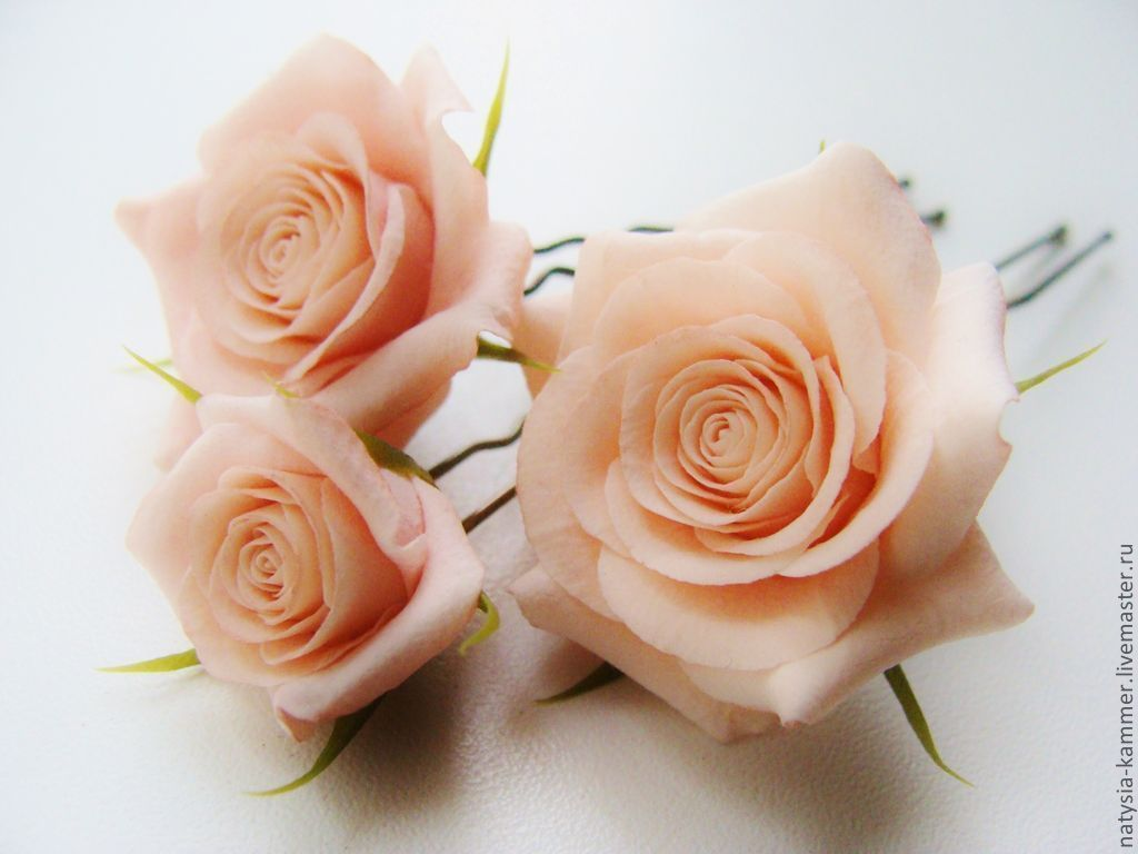 Роза для шпилек своими руками