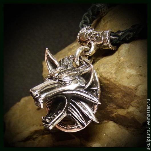 """Подарки для мужчин, ручной работы. Ярмарка Мастеров - ручная работа. Купить Кулон """"Ведьмак"""" серебро 925. Handmade. Серебряный"""