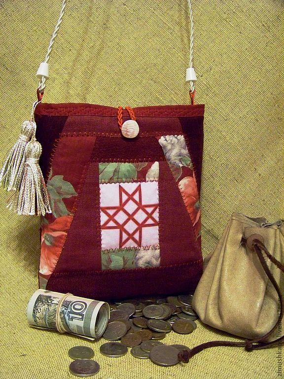 Handbag with Slavic symbols of PROSPERITY, Folk decorations, Bryansk,  Фото №1