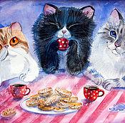 """Картины и панно ручной работы. Ярмарка Мастеров - ручная работа """"Печеньки"""". Handmade."""