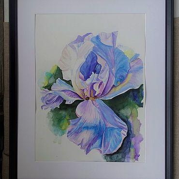 Картины и панно ручной работы. Ярмарка Мастеров - ручная работа Акварель Нежный Ирис. Handmade.