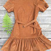 Одежда ручной работы. Ярмарка Мастеров - ручная работа Вельветовое платье. Handmade.