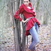 """Пальто ручной работы. Ярмарка Мастеров - ручная работа Кардиган """" Винный"""". Handmade."""