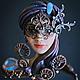 """Браслеты ручной работы. Ярмарка Мастеров - ручная работа. Купить Браслет """"Венецианский карнавал"""". Handmade. Синий, венецианская маска"""