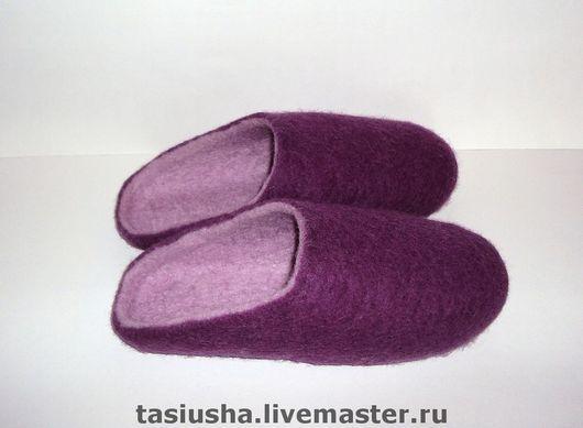 """Обувь ручной работы. Ярмарка Мастеров - ручная работа. Купить Тапочки - шлёпанцы валяные """"Двухцветные"""". Handmade. Войлок ручной работы"""