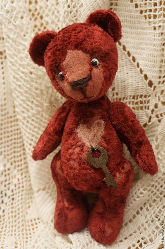 Мишки Тедди ручной работы. Ярмарка Мастеров - ручная работа. Купить Ключик от сердца, тебе я принес, мишка-тедди. Handmade.