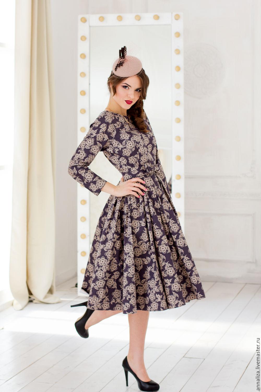 Dress in retro style 'Autumn waltz', Dresses, Moscow,  Фото №1