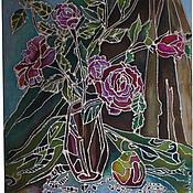 """Картины и панно ручной работы. Ярмарка Мастеров - ручная работа батик панно """"Утро"""". Handmade."""