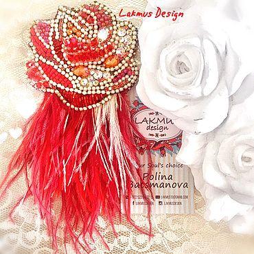 Украшения ручной работы. Ярмарка Мастеров - ручная работа Роза в лучах заката - Sunset Rose. Handmade.