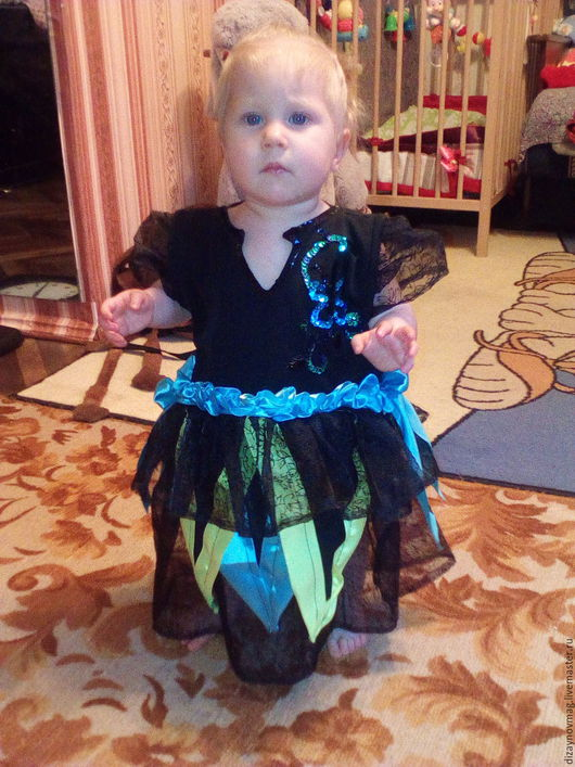 Одежда для девочек, ручной работы. Ярмарка Мастеров - ручная работа. Купить Ночная Фея. Handmade. Черный, торжество, органза, пайетки
