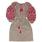 "Dresses handmade. Livemaster - original item Шерстяное платье-вышиванка ""Зимние Чары"". Handmade."