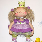 Куклы и игрушки ручной работы. Ярмарка Мастеров - ручная работа принцесса Фиалка. Handmade.