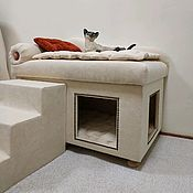 Зоотовары handmade. Livemaster - original item A house for a dog (cat) with a sofa on top. Available in size.. Handmade.