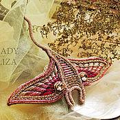 handmade. Livemaster - original item Mantle bead brooch. Handmade.