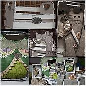 """Сувениры и подарки ручной работы. Ярмарка Мастеров - ручная работа Интерьерный набор игрушек-зверушек """"Д"""" в винтажном стиле. Handmade."""