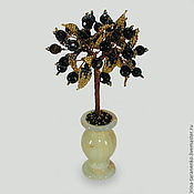 Цветы и флористика handmade. Livemaster - original item Love tree of spinel in a vase of onyx. Handmade.