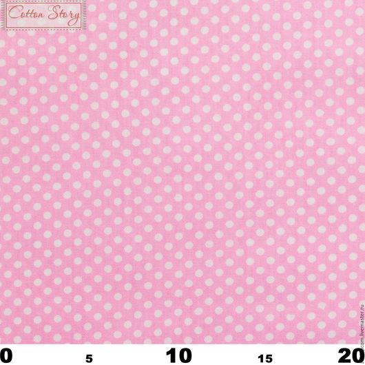Шитье ручной работы. Ярмарка Мастеров - ручная работа. Купить 0313 Сатин Горох 4 мм на розовом. Handmade. Саржа