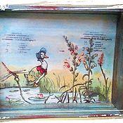 """Для дома и интерьера ручной работы. Ярмарка Мастеров - ручная работа Поднос """"Уточка"""". Handmade."""