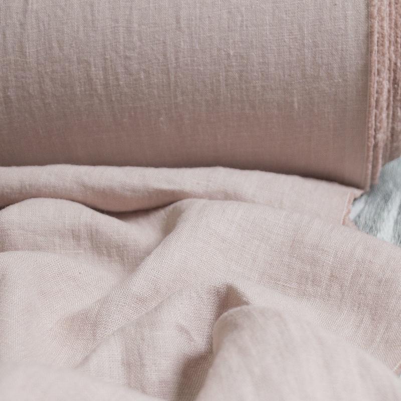 Лён костюмно-плательный умягченный пудра. Энзимная стирка, Ткани, Минск,  Фото №1