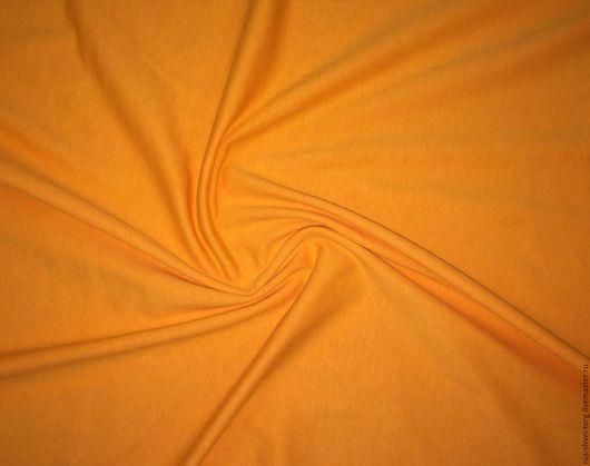 Трикотаж `Кулирка`  цвет `Оранжевый`