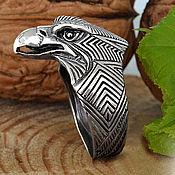 Украшения ручной работы. Ярмарка Мастеров - ручная работа Орел, кольцо мужское из серебра, подарки для мужчин, перстни мужские. Handmade.