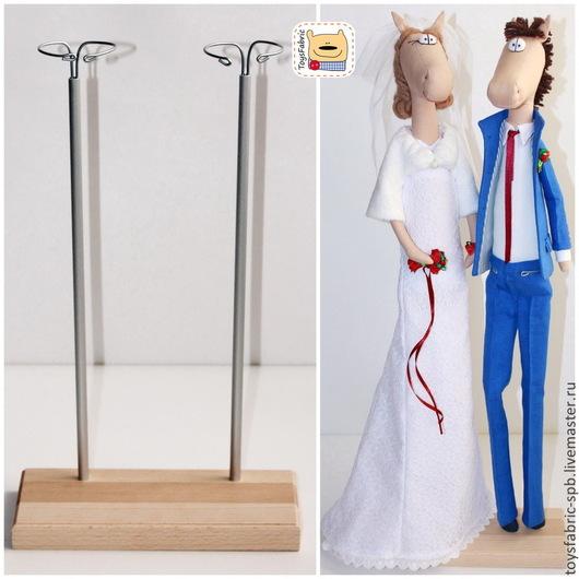 Куклы и игрушки ручной работы. Ярмарка Мастеров - ручная работа. Купить Подставка для кукол двойная из бука (10х20см) (2Б10Х20Р). Handmade.