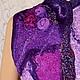 Жилеты ручной работы. Жилет валяный, нунофелт « Сиреневая сирень». Людмила Кузнецова (lydmilaart). Интернет-магазин Ярмарка Мастеров.