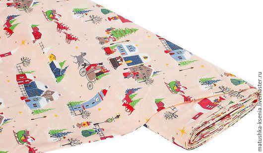 """Шитье ручной работы. Ярмарка Мастеров - ручная работа. Купить Ткань Германия Новый год """"Сказка"""" Рождество для тильды пэчворк. Handmade."""