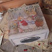 """Для дома и интерьера ручной работы. Ярмарка Мастеров - ручная работа """"Для друзей"""" - короб. Handmade."""