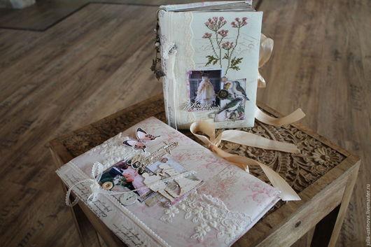 Свадебные аксессуары ручной работы. Ярмарка Мастеров - ручная работа. Купить Свадебная книга пожеланийи папка для свидетельства - шебби -свадьба. Handmade.