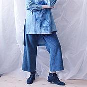 Одежда handmade. Livemaster - original item Wide, cropped corduroy pants. Handmade.