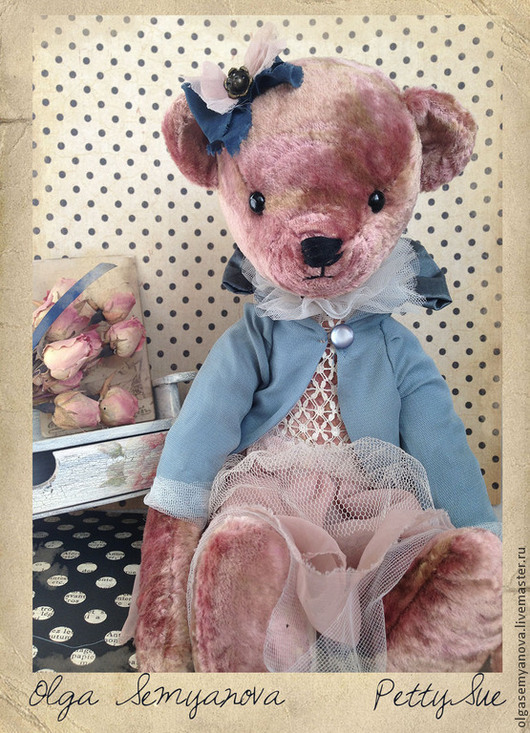 Мишки Тедди ручной работы. Ярмарка Мастеров - ручная работа. Купить Petty Sue. Handmade. Бледно-розовый, мишка в подарок