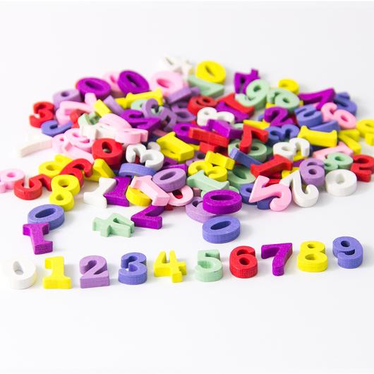 декоративные элементы ЦИФРЫ разноцветные
