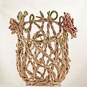 Для дома и интерьера handmade. Livemaster - original item Twines - Openwork Waven Ceramic Vase. Handmade.