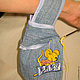 Японская сумка-клубочница Сумочка для рукоделия Сумочка клубочница  висит на запястье