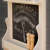 """Для дома и интерьера ручной работы. Ярмарка Мастеров - ручная работа Полка для кухни с меловой доской """"Palermo"""". Handmade."""
