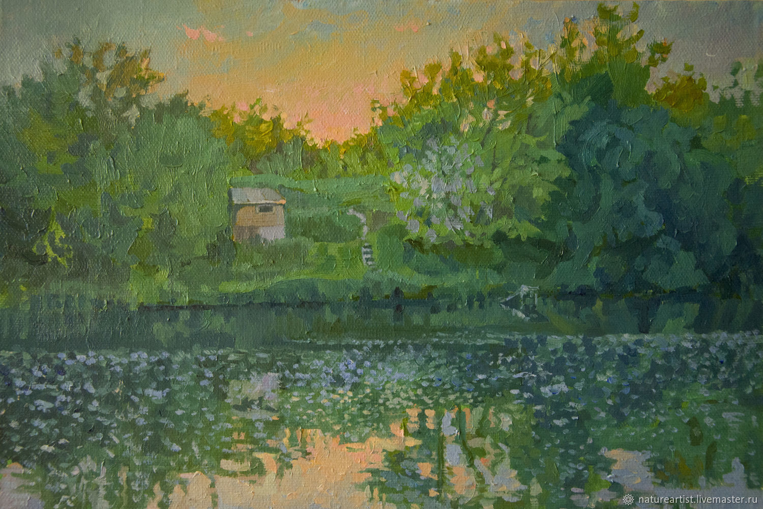 Oil painting 'Sunset', Pictures, Moscow,  Фото №1