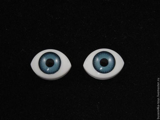 """Куклы и игрушки ручной работы. Ярмарка Мастеров - ручная работа. Купить 10х15мм Глаза кукольные (серо-голубые) 2шт. """"4052"""". Handmade."""