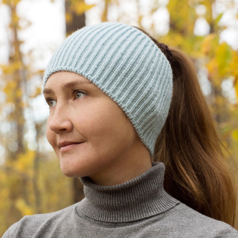 Knitted head bandage blue, Bandage, Tyumen,  Фото №1