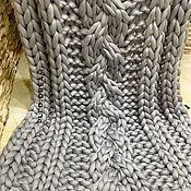 Пледы ручной работы. Ярмарка Мастеров - ручная работа Плед, меринос, плед крупной вязки из толстой пряжи мериноса. Handmade.
