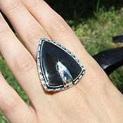 Украшения handmade. Livemaster - original item Obisidia ring with black obsidian in 925 IV0012 silver. Handmade.