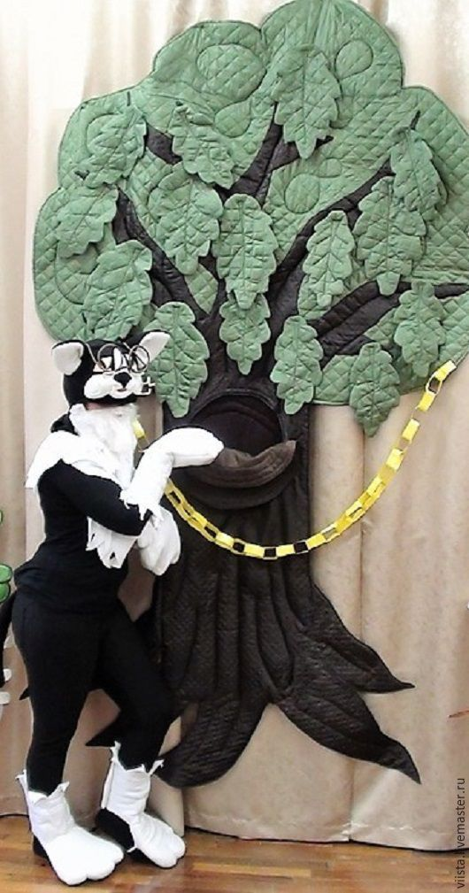 Carnival Costumes handmade. Livemaster - handmade. Buy Cat Scientist!.White, solid, green oak, felt