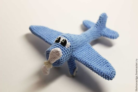 Техника ручной работы. Ярмарка Мастеров - ручная работа. Купить Авторская игрушка Самолетик. Handmade. Голубой, самолетик, игрушка в подарок